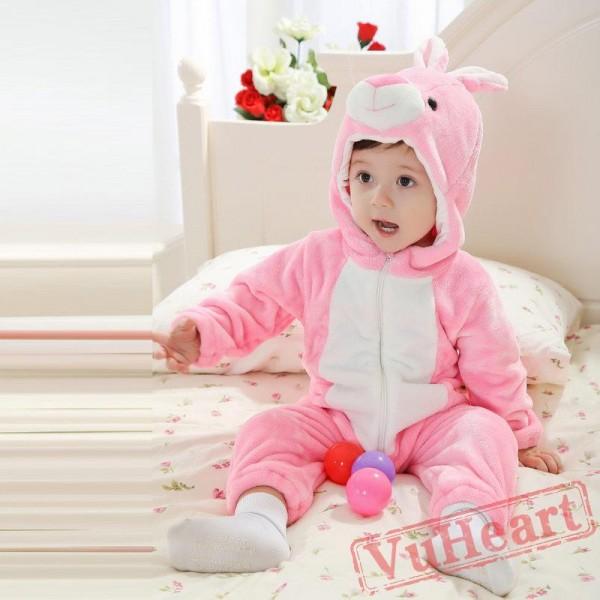 Kigurumi | Pink Rabbit Kigurumi Onesies - Cool Baby Onesies