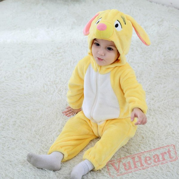 Small Yellow Dog Baby Onesie Costumes / Clothes