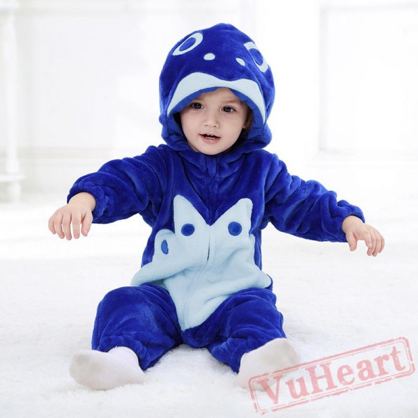 Goldfish Flannel Comfort Blue Baby Onesie Costumes / Clothes