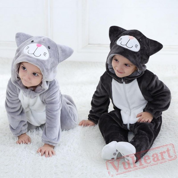 Black, Grey Cats Baby Onesie Costumes / Clothes