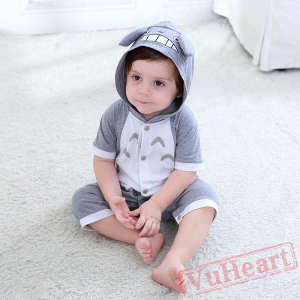 Gray Summer Short Sleeve Baby Onesie Costumes / Clothes