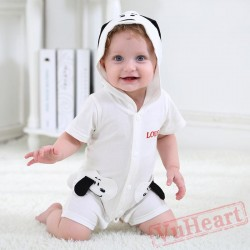 White Little Slave In Summer Is Cute Baby Onesie Costumes / Clothes