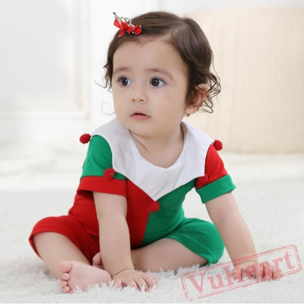 Red Comfortable Cotton Baby Onesie Costumes / Clothes