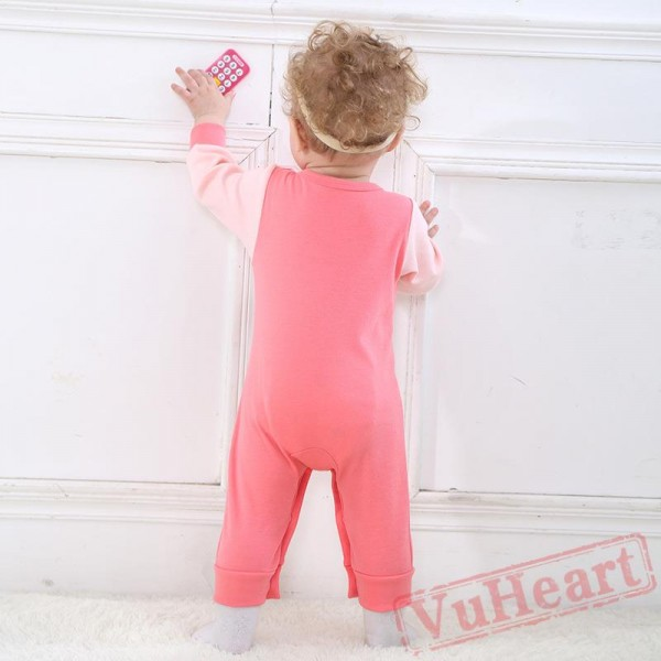 Pink & Green Powder Cartoon Cat Baby Onesie Costumes / Clothes