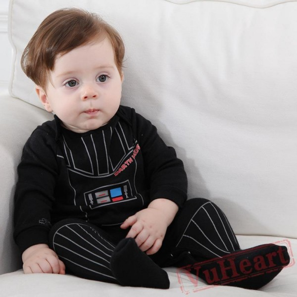 Black Long Sleeve Baby Onesie Costumes / Clothes