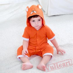 Orange Animal Short Sleeve Baby Onesie Costumes / Clothes