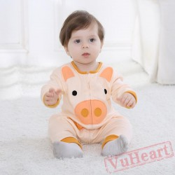 Orange Cute Pig Baby Onesie Costumes / Clothes