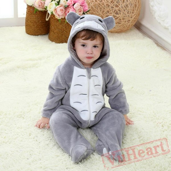 Gray Soft And Lovely Flannel Gray Baby Onesie Costumes / Clothes