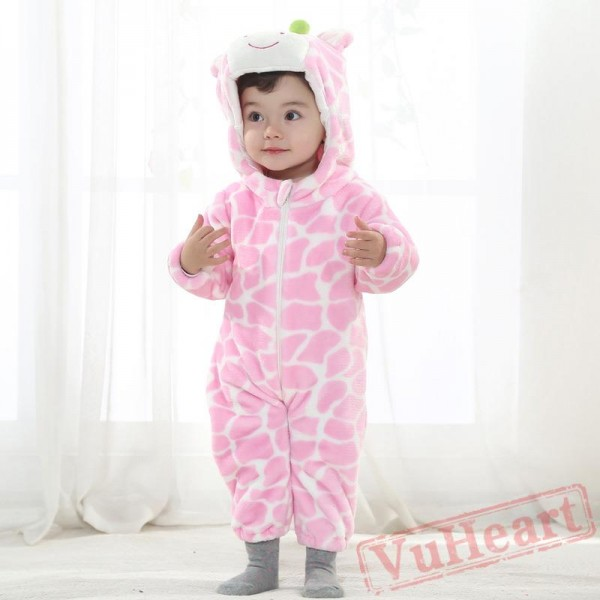 Pink & Brown Cow Cowsuit Baby Onesie Costumes / Clothes