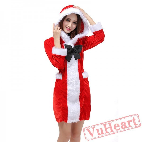 Christmas Costume Sexy Onesies Ladies Red Christmas Suits