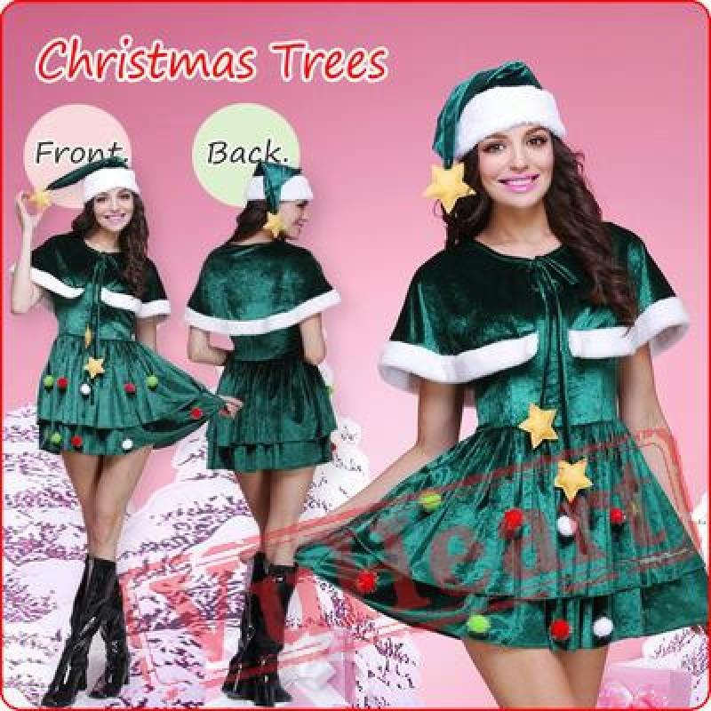 a80872e786 Green Cloak Christmas Dress   Costumes for Women