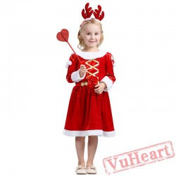Girl Long Sleeve Christmas Dresses