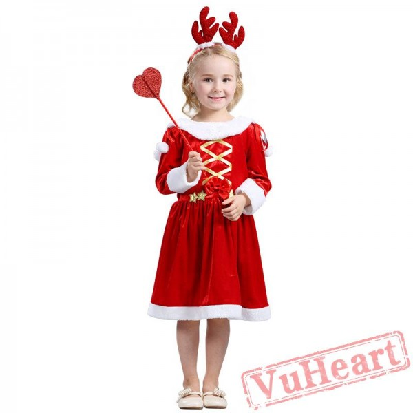 Girl Long Sleeve Christmas Dresses