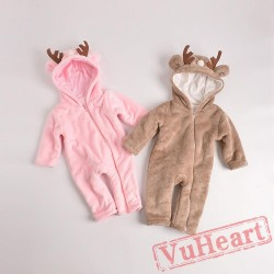 Baby Winter Christmas Deer Onesies