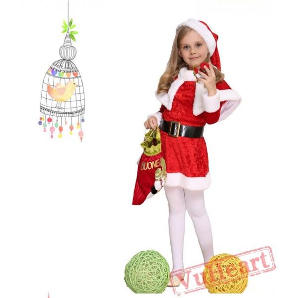 Fantasy Cosplay Children's Costume Santa Claus Christmas Dress