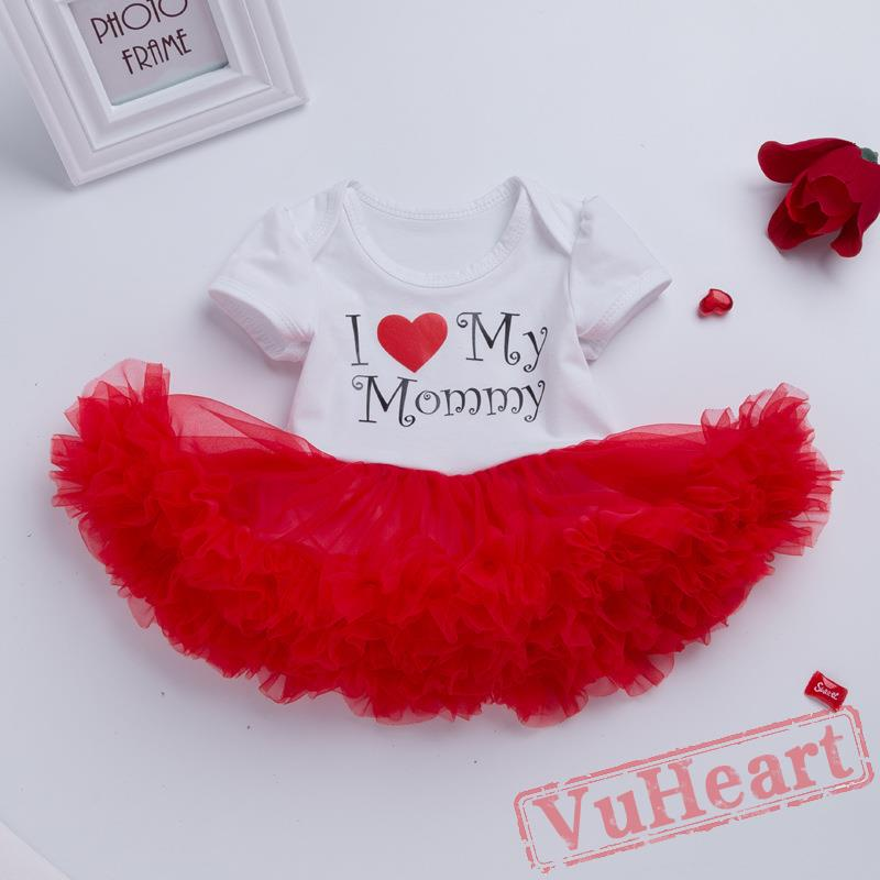 5051c1f261 Mother Day Red Baby Girl Onesies Set