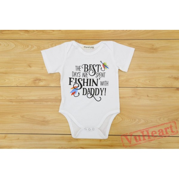 Father Day White Baby Girl Onesies,Summer Toddler/Baby Bodysuit