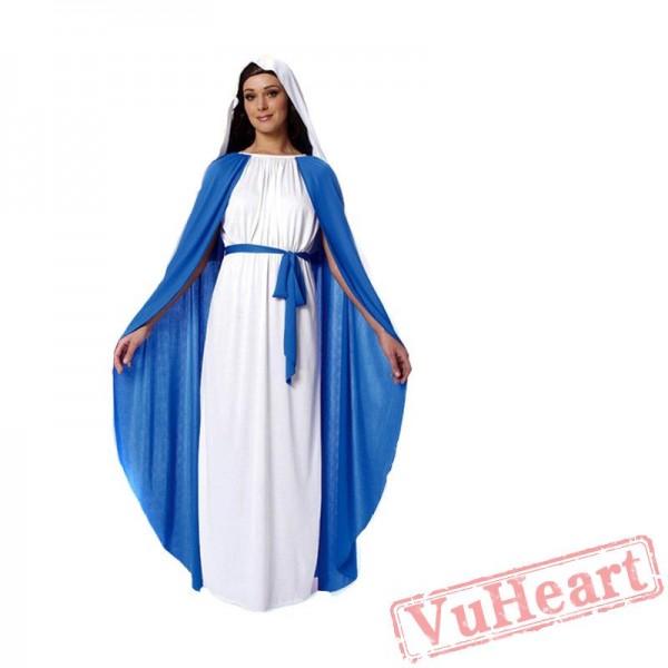 Halloween cosplay adult women's costume, nuns costume, Virgin Mary
