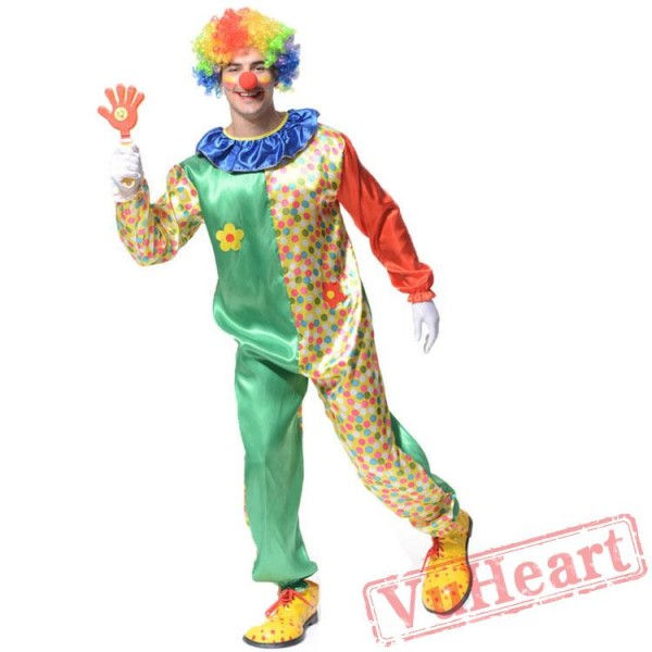 Adult men clown costume
