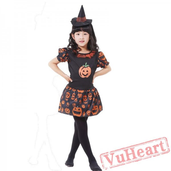 Halloween kid's costume, witch witch, pumpkin costume