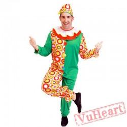 Halloween adult men cartoon clown costume