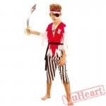 Halloween cosplay kid pirate costume
