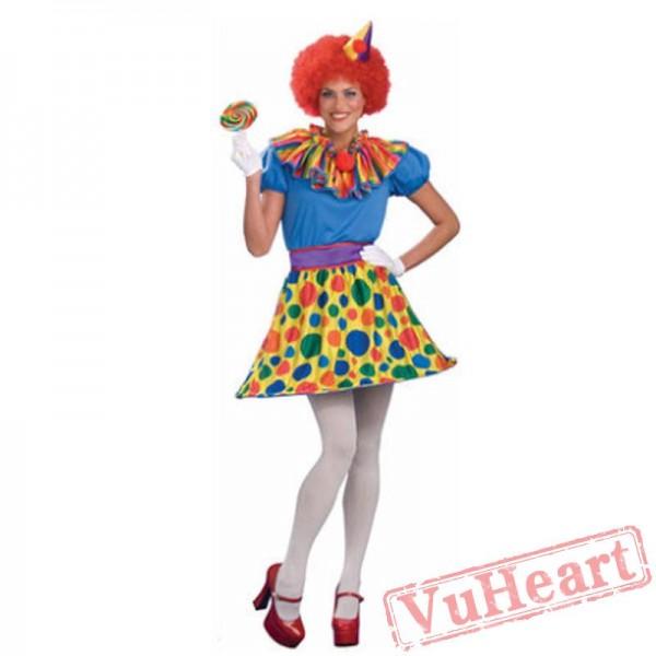 Halloween cosplay women, adult clown costume