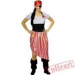 Halloween costumes, adult women pirate costume, pirates of the Caribbean - Captain Jack costume