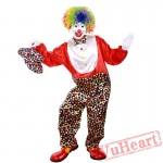 Halloween cosplay costume, adult clown costume