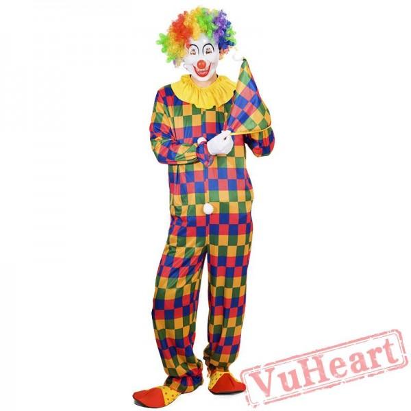 Halloween adult clown costume