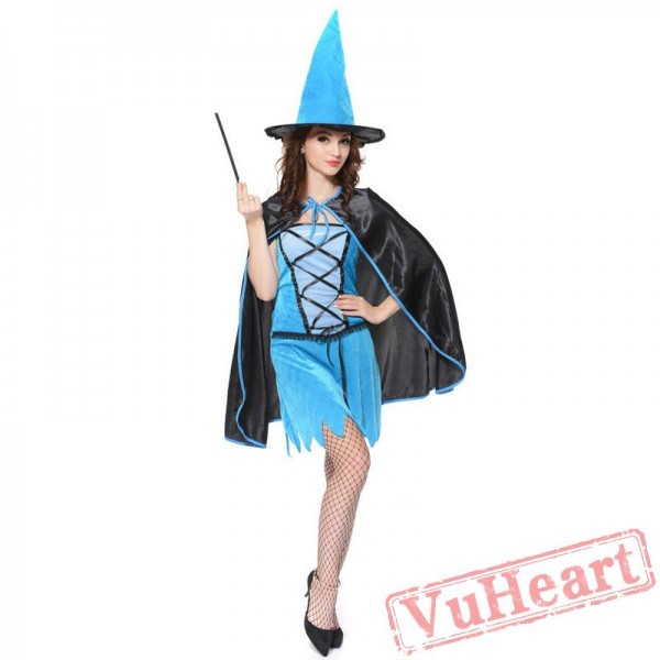 Halloween costume, adult magician costume, witch service