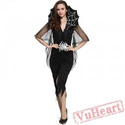 Black Spider Vampire Dress, Halloween Costume