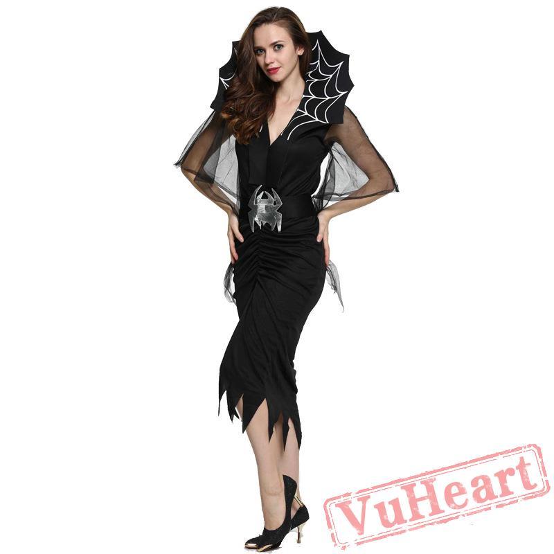 sc 1 st  VuHeart & Black Spider Vampire Dress Halloween Costume