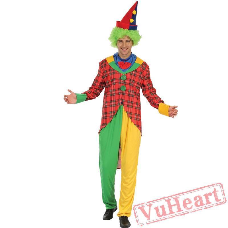 sc 1 st  VuHeart & Halloween costume adult happy clown costume
