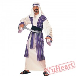 Halloween adult cosplay costume, an Arab warrior costume
