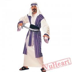 Halloween adult cosplay costume, an Arab warrior costume