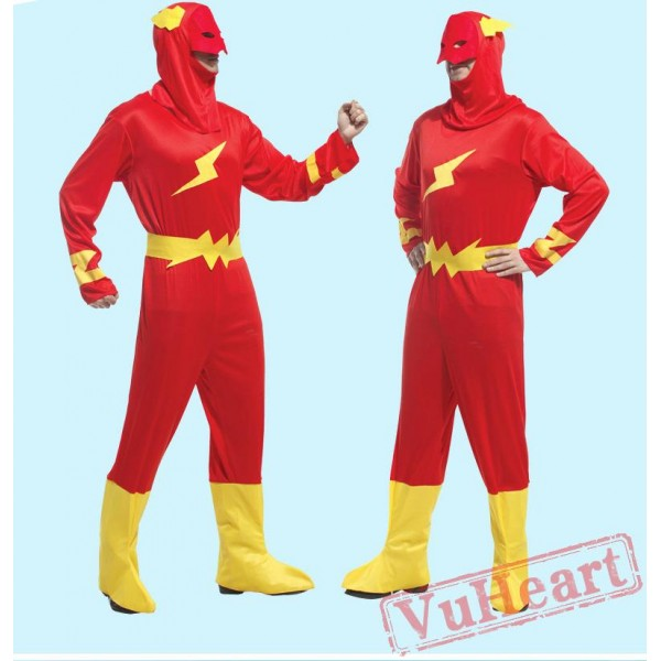 Halloween adult cosplay costume, lightning superman costume