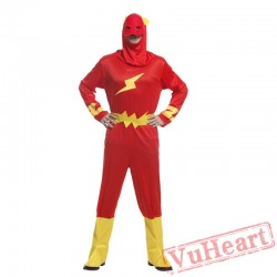 Halloween adult cosplay costume, lightning superman costume