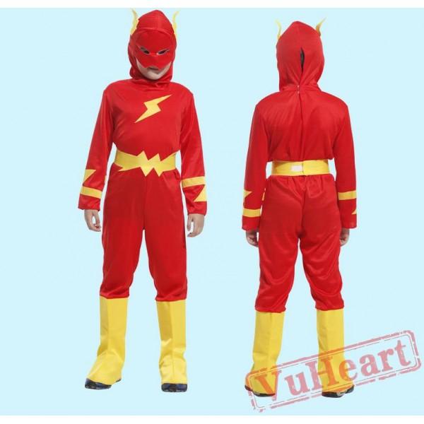 Halloween kid's costume, lightning Superman costume