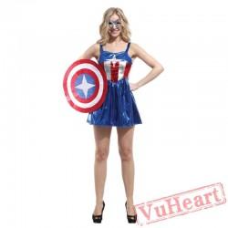 American captain sexy women animation costume