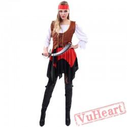 Halloween Adult Pirate Garment, Captain Caribbean Pirates Jack