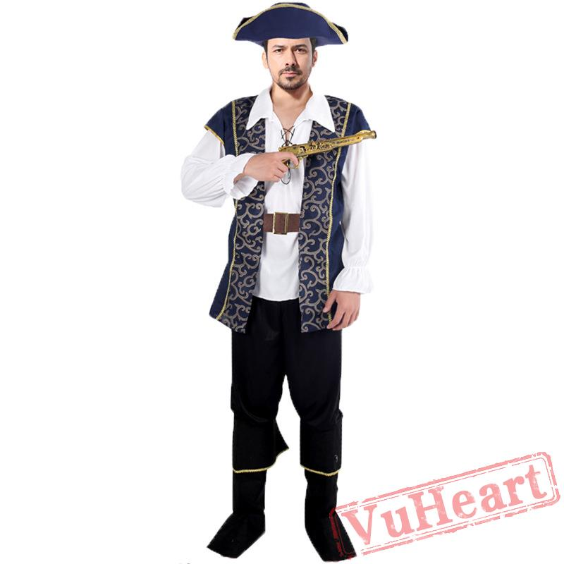 sc 1 st  VuHeart & Halloween costume men pirate captain costume