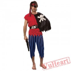 Halloween Pirate Garment, Pirates of the Caribbean, Adult Jack Captain Costume