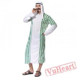 Halloween adult men cosplay costume, Arab prince corner costume