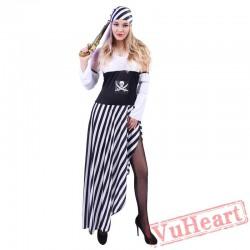 Halloween pirate costume, women pirate costume / adult pirate costume