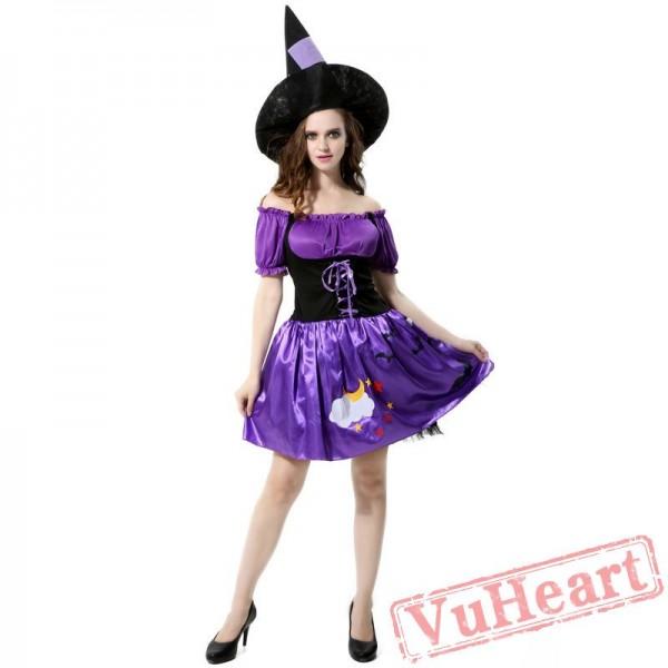Halloween Purple Witch Dress
