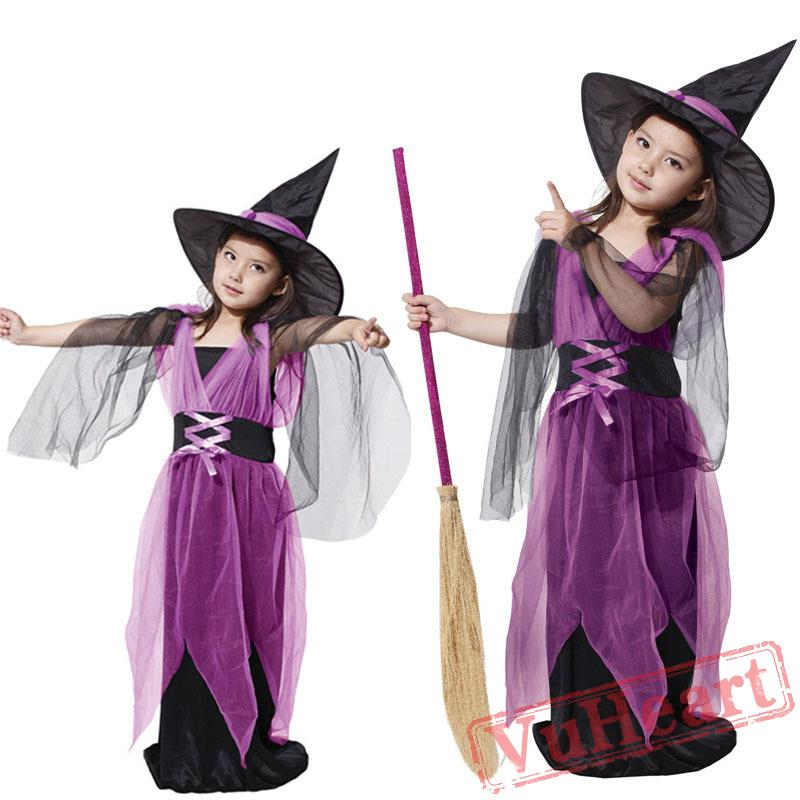 sc 1 st  VuHeart & Halloween cosplay costume kid witch costume