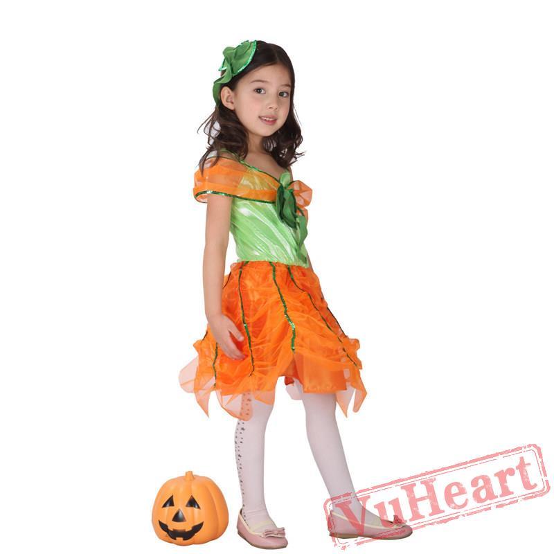 sc 1 st  VuHeart & Halloween kid Pumpkin costume