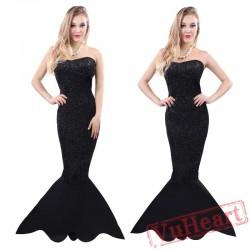 Halloween Black Mermaid costume
