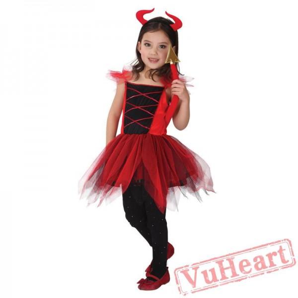 Halloween kid's costume, red devil